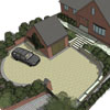 Front and rear garden - Leicestershire