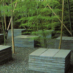 Slate Cubes with Bamboo