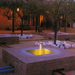 Tiled Fountain with Light